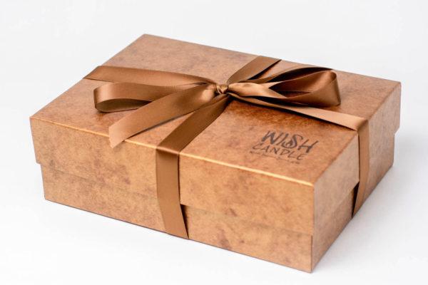 TheWISHCandle Set Elegant Copper Textured soft-box