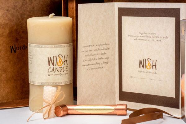 WISH Candle Card Envelope Capsule Bees Wax Plug